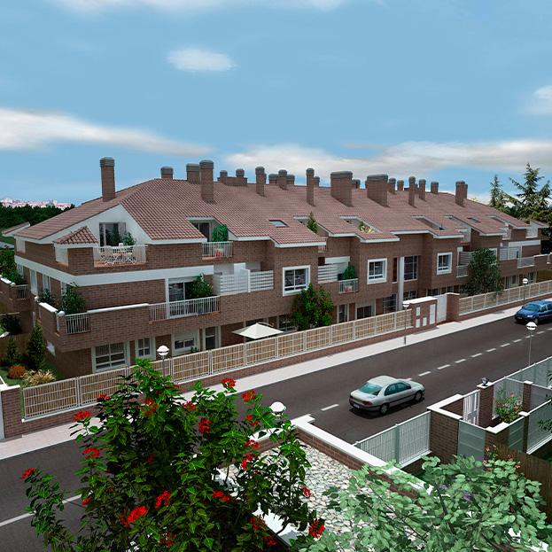 23 viviendas, garaje, trasteros y piscina