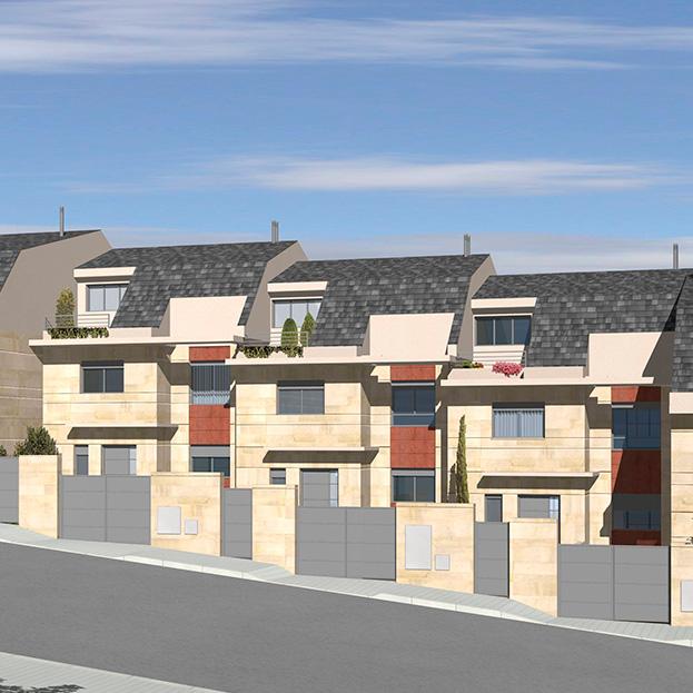 4 viviendas unifamiliares pareadas