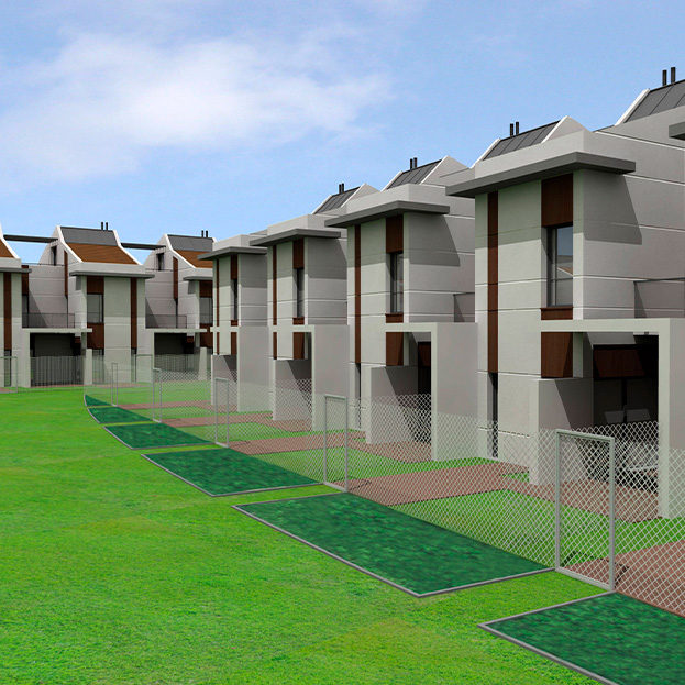 100 viviendas unifamiliares adosadas
