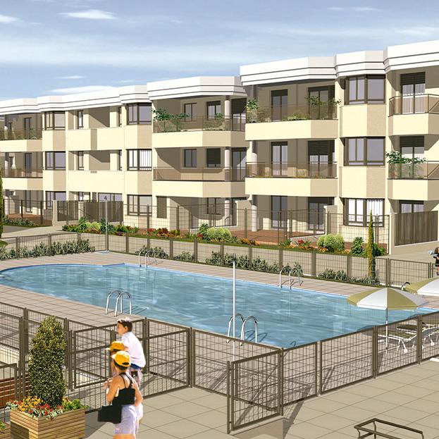 192 Viviendas, garaje, trasteros y piscina