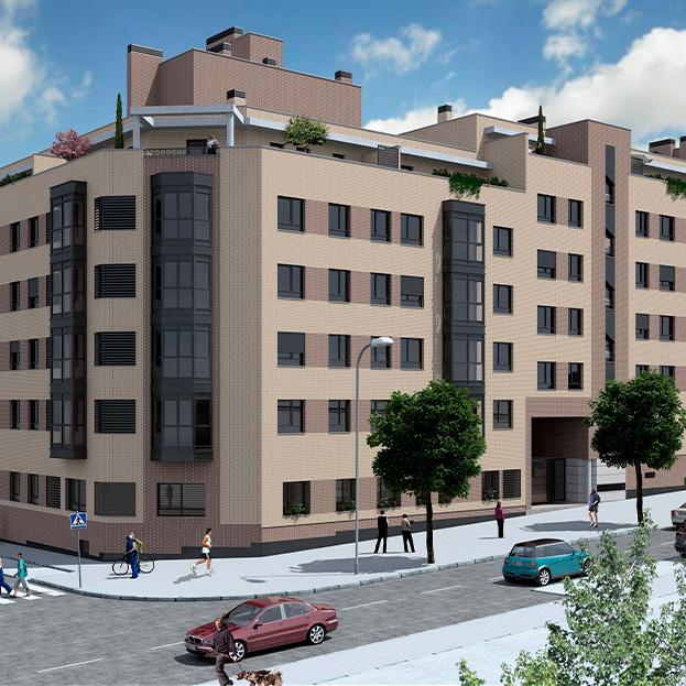 67 viviendas VPPB en bloque., garaje, trasteros y piscina. Residencial CAPRI