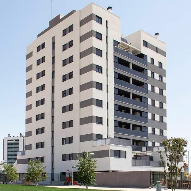 44 viviendas en bloque, garaje, trasteros y piscina. Residencial TURIN